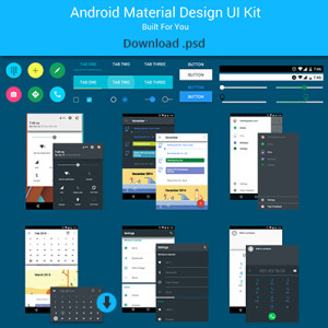ANDROID MATERIAL DESIGN UI KIT DOWNLOAD FREE PSD
