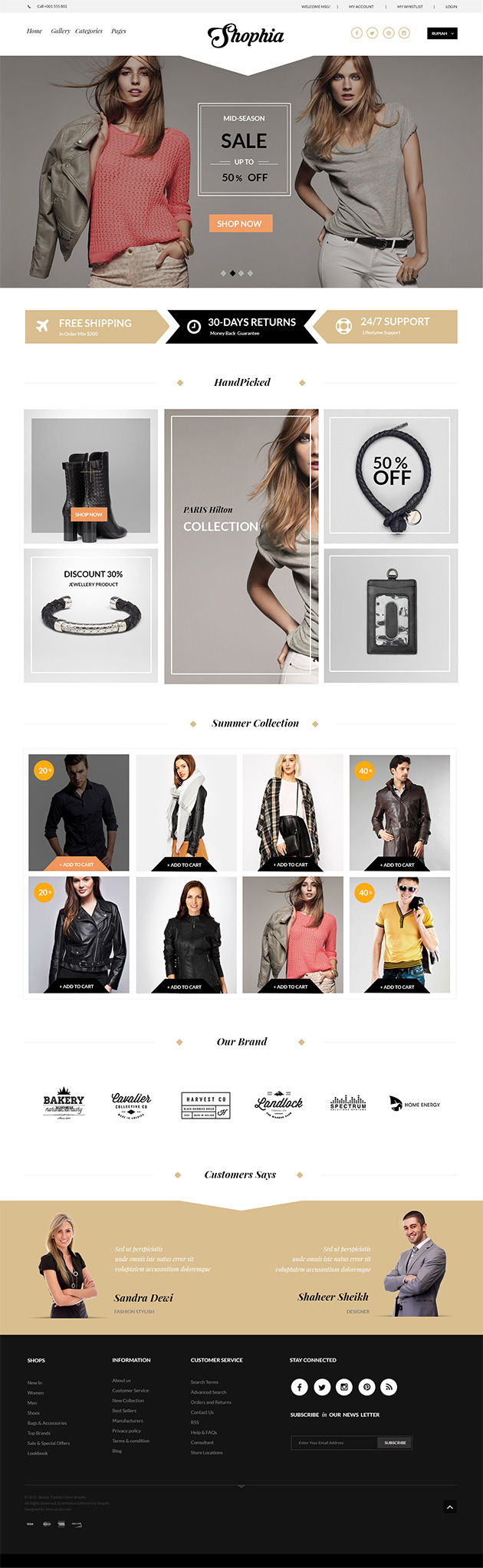 Free eCommerce site landing page template