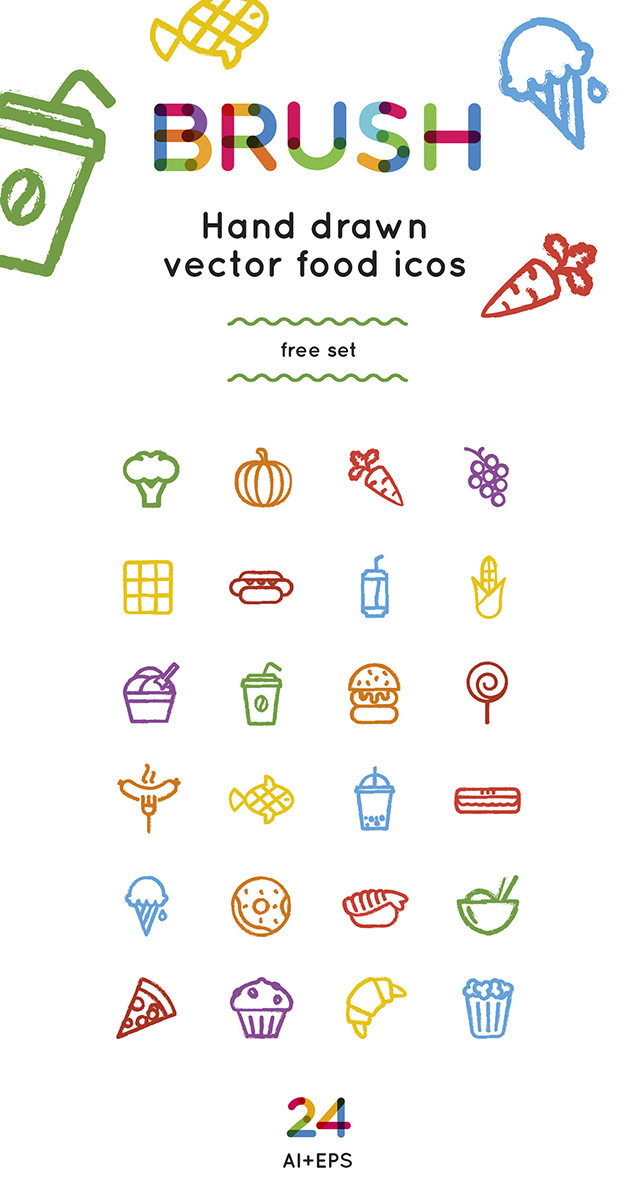 Food icons and logos