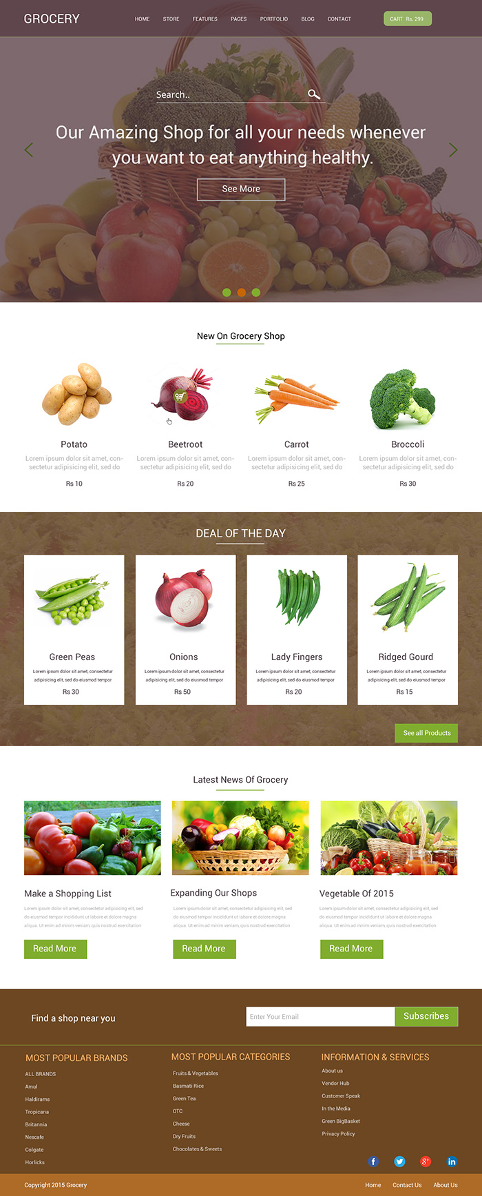 Grocery landing page