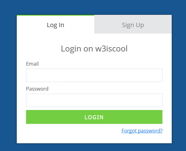 Login Signup form