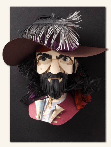 Paper sculptures Pirate