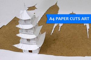 A4 paper cuts