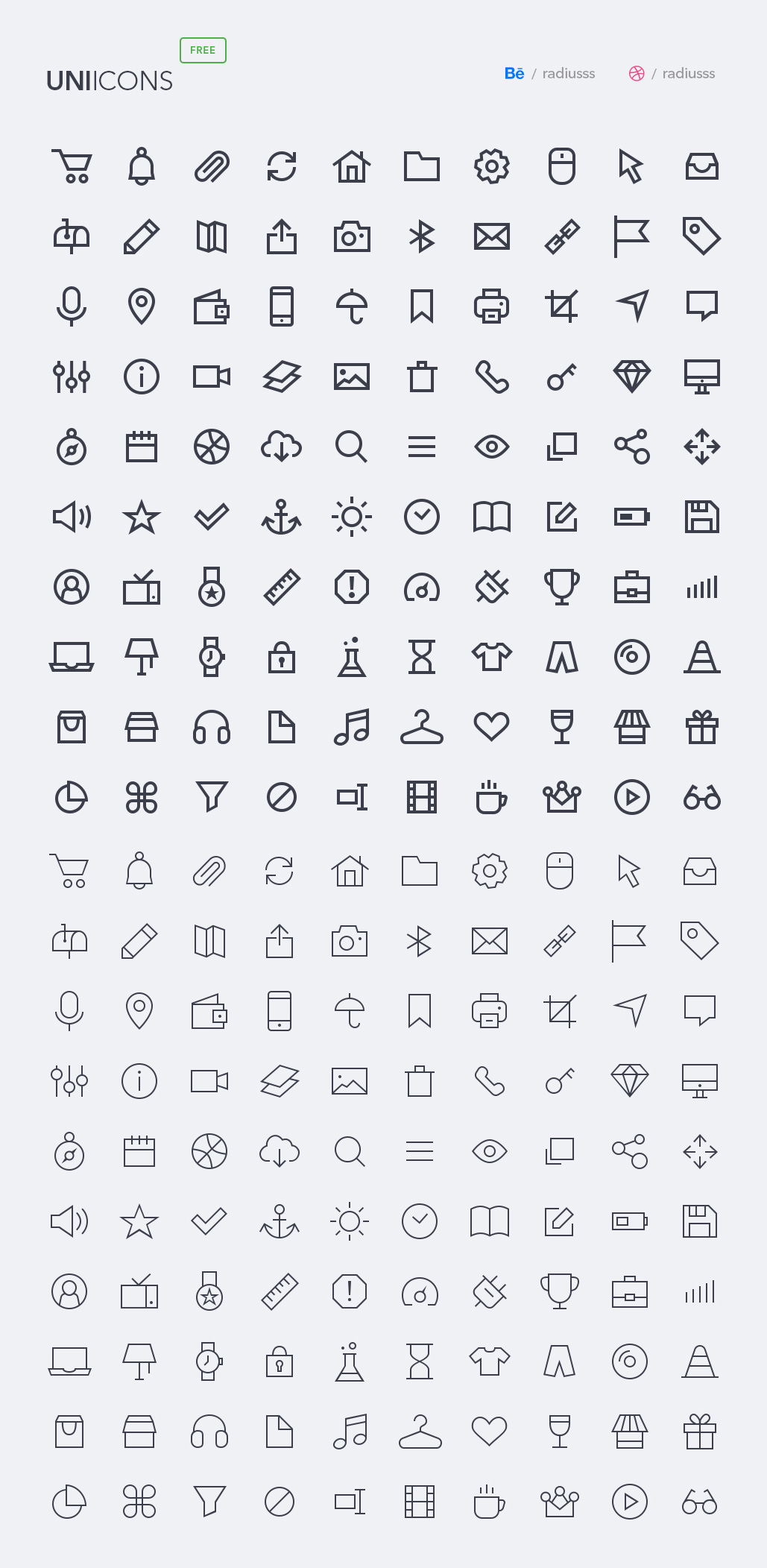 Free Line Icons set